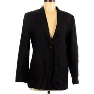 Talbots Black Irish Linen Blazer Size 8